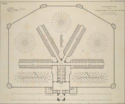 GOUND PLAN OF THE PENTONVILLE PRISON FOR 520 PRISONERS ON THE SEPARATE SYSTEM